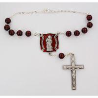 Saint Florian Red Auto Rosary