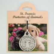 Zinc Saint Francis Protector Of Animals Medal w/Cord