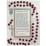 Divine Mercy Chaplet - Red Beads