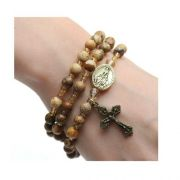 Jasper Stone Twistable Full Rosary Stretch Bracelet