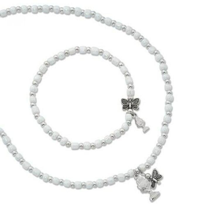 Necklaces Pearl Necklace Amp Bracelet Set W Chalice