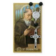St Benedict Auto Rosary/Prayer Card