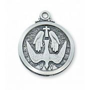 Sterling Silver Holy Spirit 20 inch Necklace Chain & Box