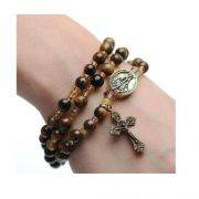 Tiger Eye Twistable Full Rosary Stretch Bracelet