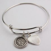 Youth Saint Peregrine Pewter Bracelet 2-1/2 inch Diameter