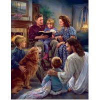 Family Worship - Studio Canvas Giclee or Art Print