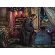 Nowhere Else to Go - Lincoln at Antietam - Canvas Christian Art Print