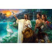 The First Sabbath in Eden - Studio Canvas Giclee/Art Print