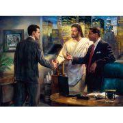 The Senior Partner Canvas Giclee or Art Print by Nathan Greene