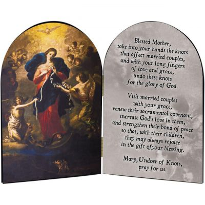 Mary Undoer of Knots Marriage Prayer Arched Diptych -  - ADIP-927A