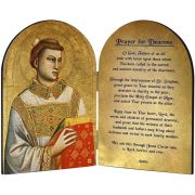 Saint Stephen Patron of Deacons Arched Diptych