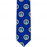 Air Force Pattern Glossy Poly Satin Necktie