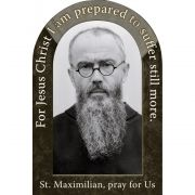 Saint Maximilian Kolbe Prayer Arched Magnet