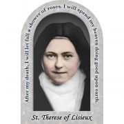 Saint Therese of Lisieux Prayer Arched Magnet