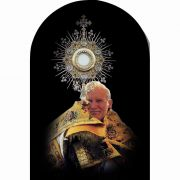 Saint John Paul II the Great with Monstrance Arched Magnet