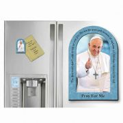 Pope Francis Thumbs Up Arched Magnet With Quote