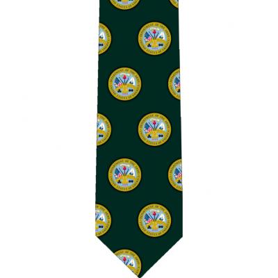 US Army Pattern Glossy Poly Satin Necktie -  - TIE-ARMP