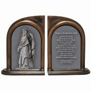 Saint Paul Statue Alabaster Bookends