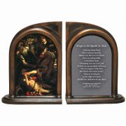 The Conversation of Saint Paul by Caravaggio Alabaster Bookends