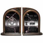 Trinity 3N1 Storm Alabaster Bookends