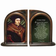 Saint Thomas More/Lawyer's Prayer Alabaster Bookends