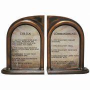 The Ten Commandments Alabaster Bookends