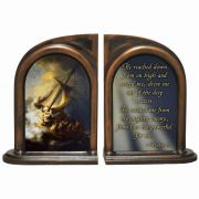 Storm on the Sea of Galilee Alabaster Bookends