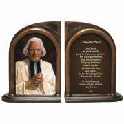 Saint John Vianney Alabaster Bookends