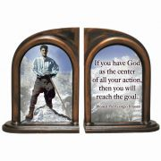Blessed Pier Giorgio Alabaster Bookends