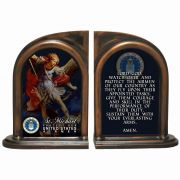 Saint Michael Air Force II Alabaster Bookends