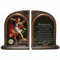 Saint Michael US Army Alabaster Bookends