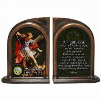 Saint Michael US Army II Alabaster Bookends