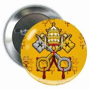 Vatican 3in. Round Glossy Button (5 Pack)
