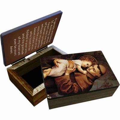 Saint Anthony Keepsake Box -  - BOX-1409
