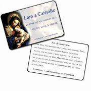 Catholic ID Cards High Quality, 30 mil Plastic.