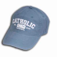 Catholic Original Blue Pigment Dyed Baseball Cap