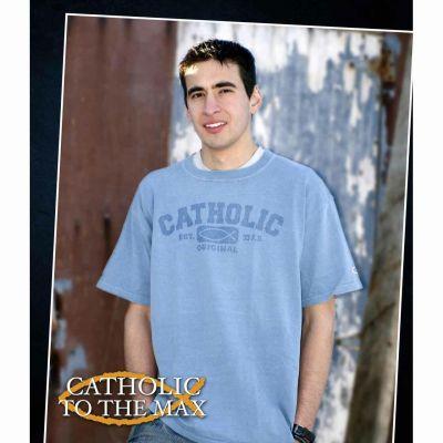 Catholic Original Pigment Dyed Tinted T-Shirt -  - OCT