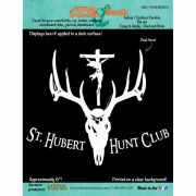 Saint Hubert Hunt Club Durable Christian Decal