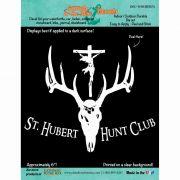 Saint Hubert Hunt Club Durable Christian Decal
