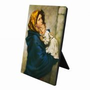 Madonna of the Streets Vertical Desk Plaque