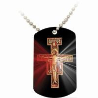 San Damiano Divine Mercy Dog Tag
