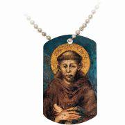 Saint Francis of Assisi Dog Tag Pendant