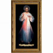 Divine Mercy Vilnius Original - Ornate Gold Framed Wall Art