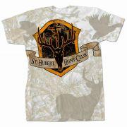 Saint Hubert of Liege Hunt Club Full Color White Camo T-shirt