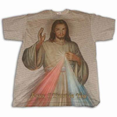 Divine Mercy Full Color T-Shirt -  - F35