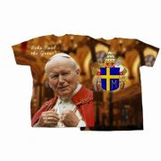 Saint Pope John Paul II Addressing the Faithful All Over Graphic shirt