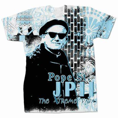 Pope Saint John Paul II Extreme Papa All Over T-Shirt -  - FXPAPA