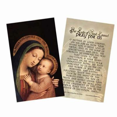 Our Lady of Good Counsel Holy Card -  - HC-121
