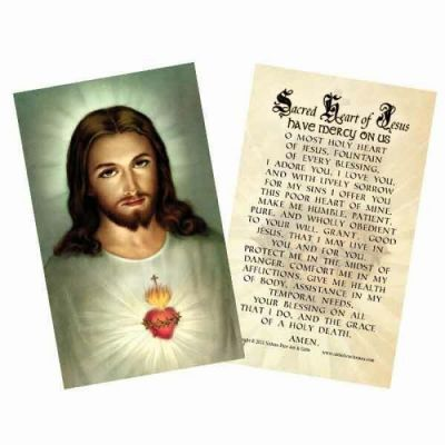 Traditional Sacred Heart Holy Card -  - HC-157