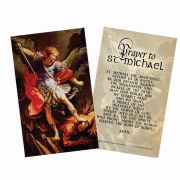 Saint Michael the Archangel Holy Card